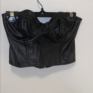 LIKE NEW AMERICAN APPAREL LEATHER TOP
